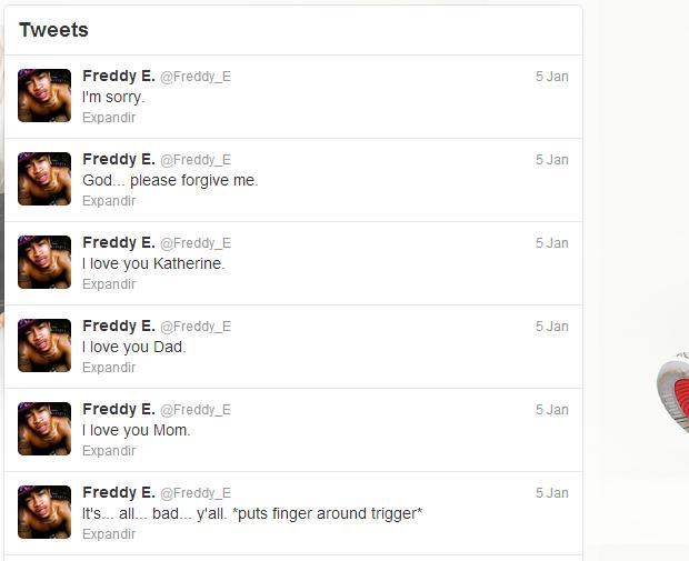 Freddy E se despediu da família e dos seus fãs e amigos pelo Twitter ( Foto: Reprodução / Twitter)