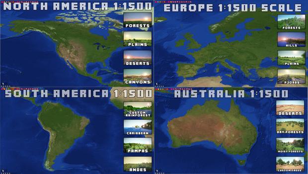 Continentes em Minecraft por enquanto são mapas separados (Foto: Kotaku)