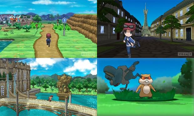 Pokémon X e Y traz um mundo ainda mais detalhado e batalhas em 3D (Foto: VG247 e Siliconera)