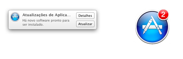 Alertas dados pelo Mac de que existem atualizações (Foto: Reprodução/Apple)