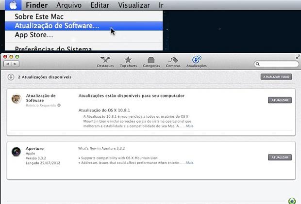 Procurando e atualizando o sistema manualmente (Foto: reprodução/Apple)