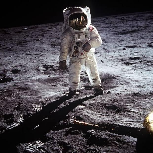 Astronauta Buzz Aldrin na superfície da Lua, em 1969 (Foto: Neil Armstrong)