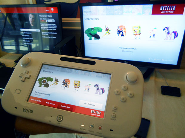 Interface da Netflix no WIi U (Foto: TechTudo / Nick Ellis)