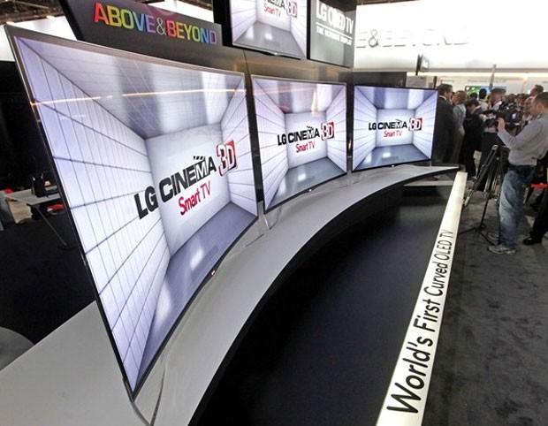 SmarTV LG OLED curva apresentada na CES 2012 (Foto: Divulgação) (Foto: SmarTV LG OLED curva apresentada na CES 2012 (Foto: Divulgação))