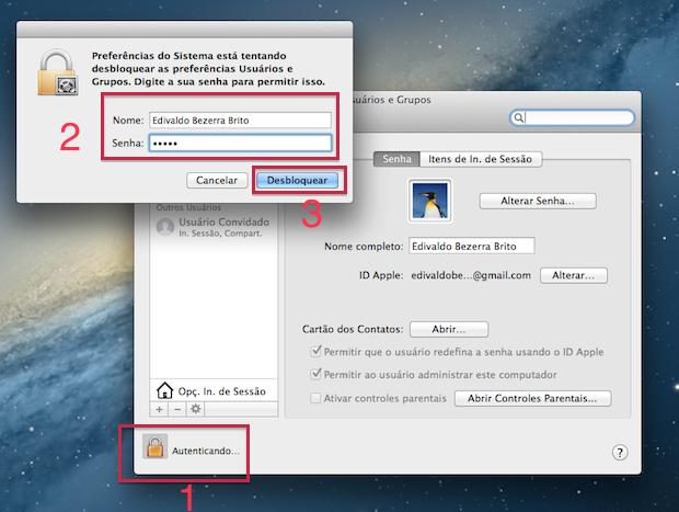 Desbloqueando a tela para modificar configurações (Foto: Reprodução/Edivaldo Brito)