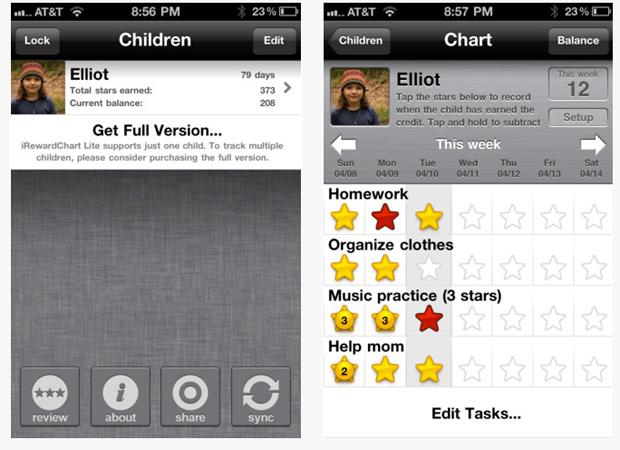 iRewardChart ajuda a controlar as tarefas dos seus filhos (Foto: Divulgação)