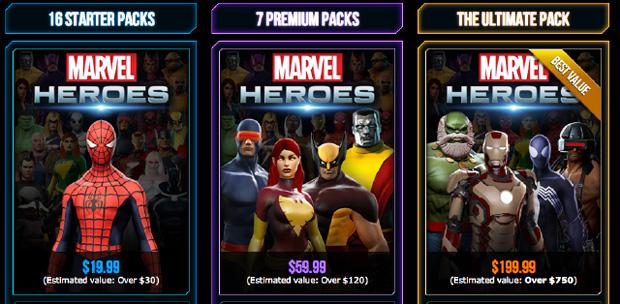 Marvel Heroes apresenta seus pacotes pagos (Foto: Reprodução)