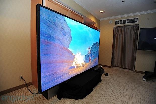 TV de 110 polegadas tem resolução 4K e custa R$ 600 mil (Foto: Reprodução Engadget)