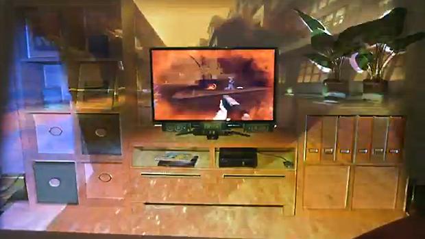 IllumiRoom expande limites de cenários em jogos (Foto: Reprodução Game Informer)