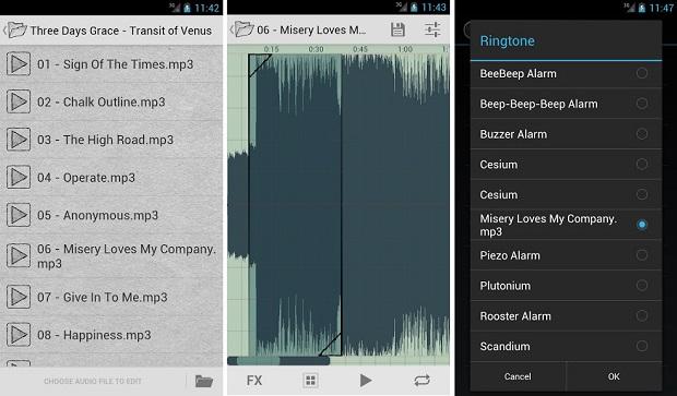 Ringtone Slicer funciona para cortar músicas (Foto: Divulgação)