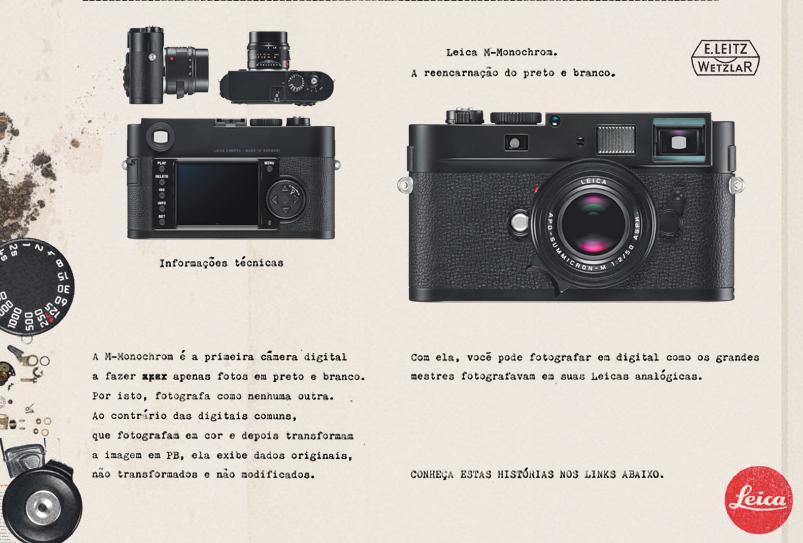 Comercial da Leica anuncia a câmera M-Monochrom, atualização da clássica Leica III (Foto: Divulgação)