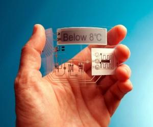 Noruegueses imprimiram circuito que funciona como termômetro com a bateria de zinco (Foto: Reprodução) (Foto: Noruegueses imprimiram circuito que funciona como termômetro com a bateria de zinco (Foto: Reprodução))