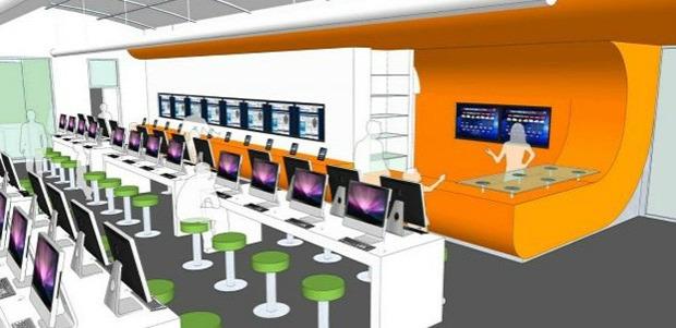 Projeto da biblioteca inteiramente digital no Texas, Estados Unidos (Foto: Reprodução/Engadget)