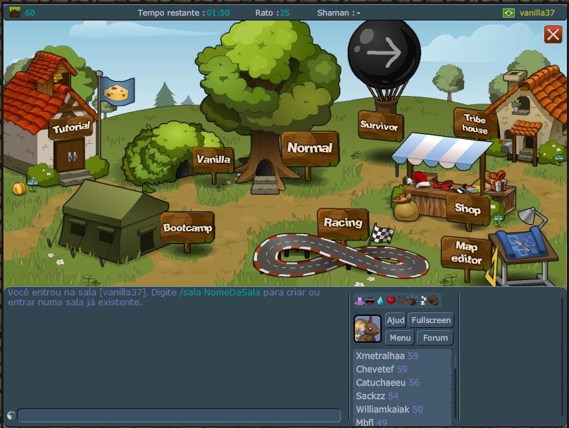 Escolha sua sala no menu do jogo (Foto: Divulgação)