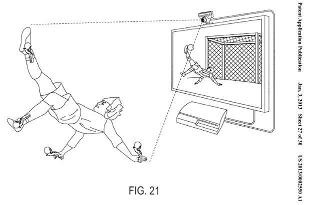 No detalhe, controle pode ser utilizado para jogos de futebol (Foto: Reprodução)