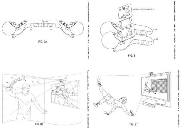 Registro da patente da Sony mostra novo controle (Foto: Reprodução)
