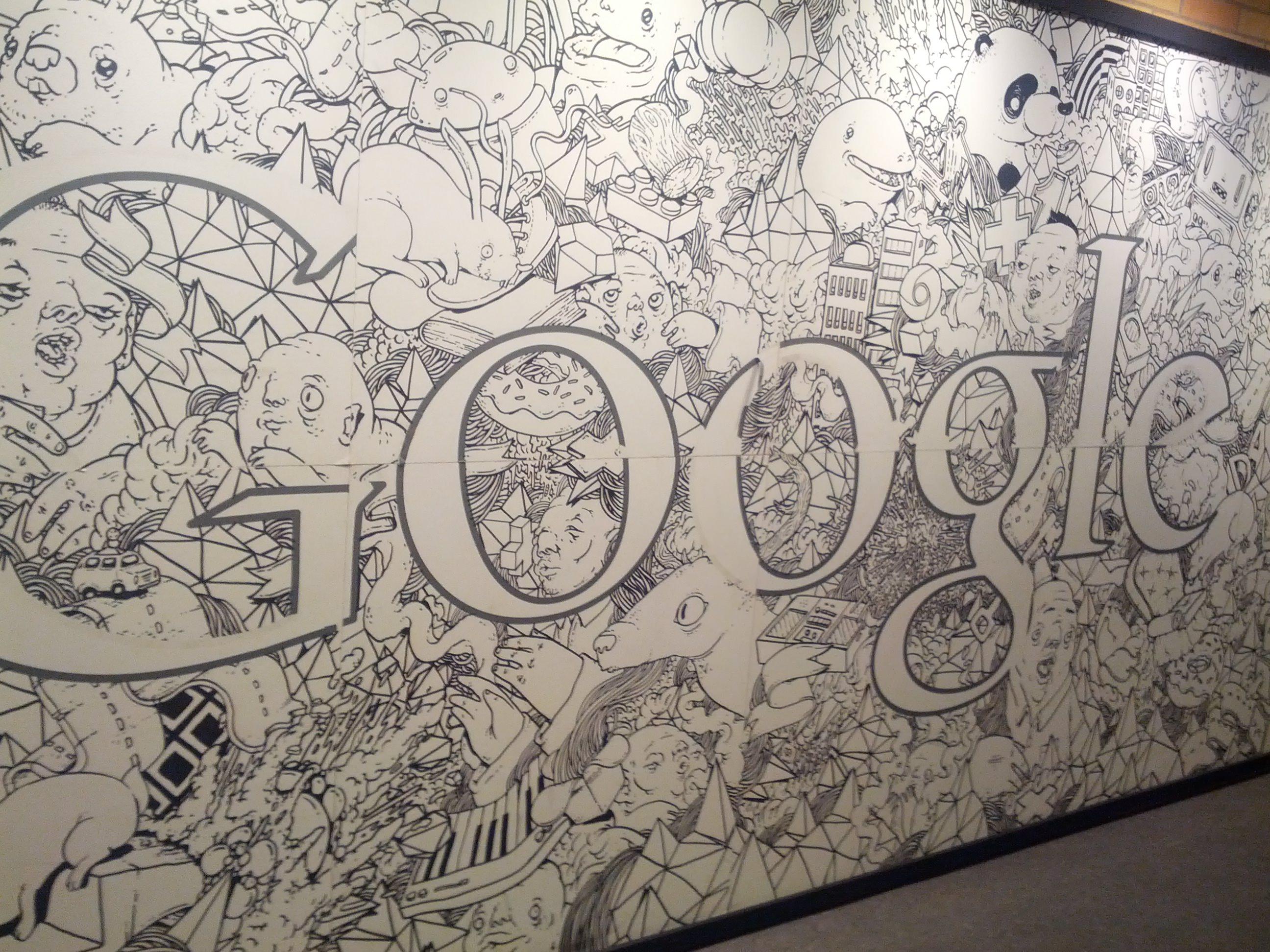 Parede do novo escritório tem desenhos divertidos (Foto: Foto: Renê Fraga)