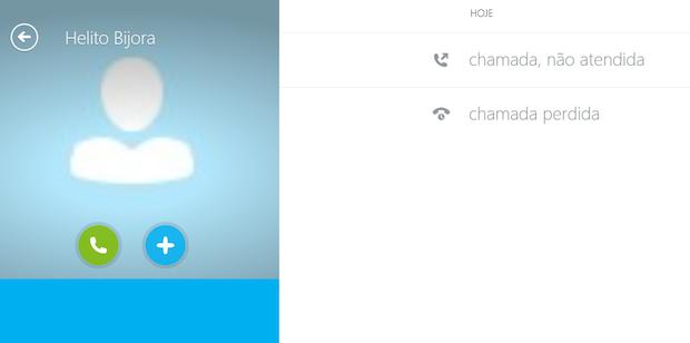 Botões para realizar ligação e adicionar contatos ao chat (Foto: Reprodução/Helito Bijora)