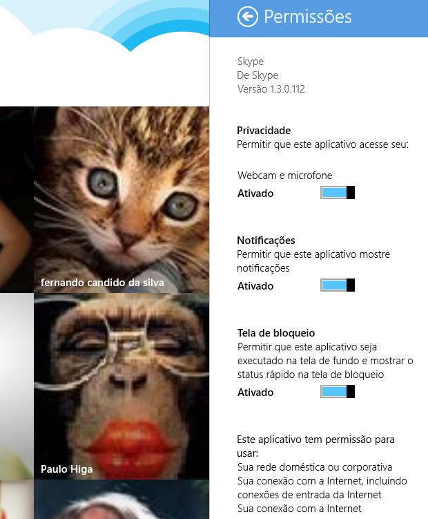 Opções de privacidade (Foto: Reprodução/Helito Bijora)