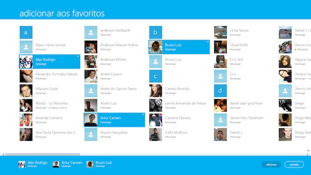 Adicionando contatos aos favoritos (Foto: Reprodução/Helito Bijora)