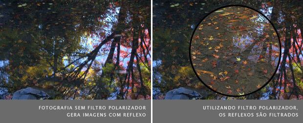 Comparação de duas fotografias sem o filtro polarizador, à esquerda, e com este filtro, à direita (Foto: Alex Wise)