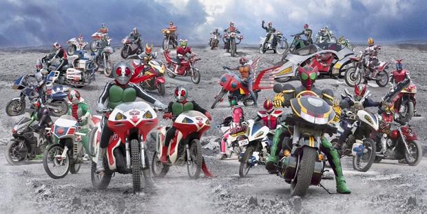 Todos os Kamen Riders unidos em um game para PS3 (Foto: Divulgação)
