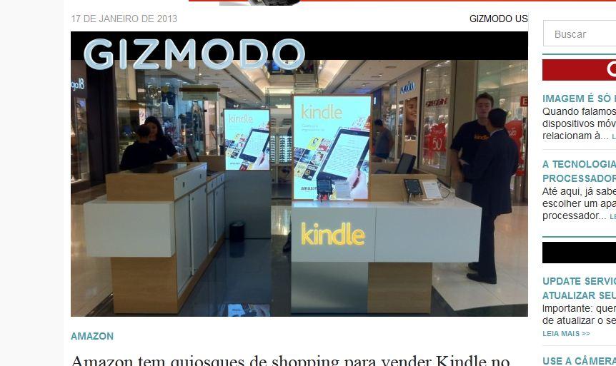 Amazon lançou quiosques pela primeira vez no mundo (Foto: Reprodução/Gizmodo)