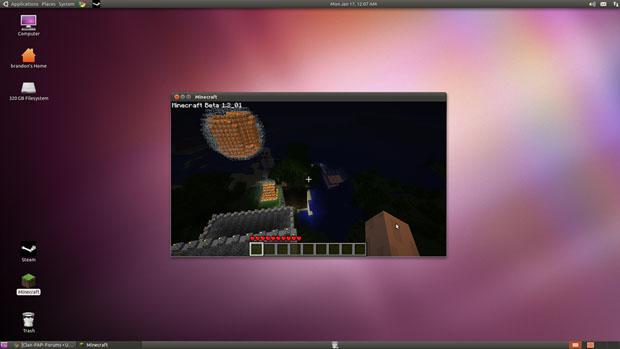 Minecraft Rodando no Ubuntu (Foto: Reprodução / MinecraftForum) (Foto: Minecraft Rodando no Ubuntu (Foto: Reprodução / MinecraftForum))