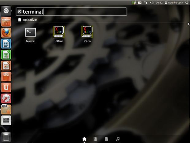Acessando o terminal no Ubuntu (Foto: Divulgação)