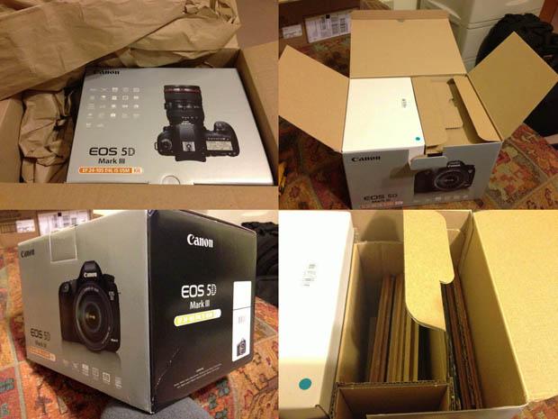 Fotógrafo recebeu lâminas de piso no lugar de uma câmera Canon (Foto: Reprodução/Peta Pixel)