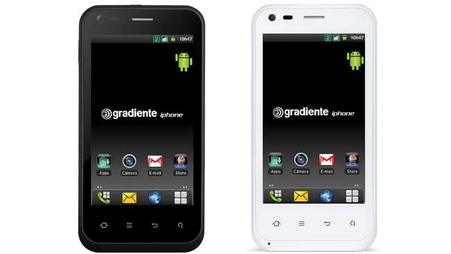 O iphone da Gradiente está disponível nas cores preta e branca (Divulgação)