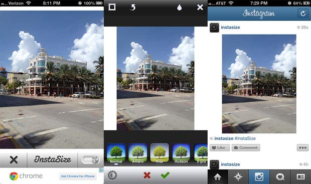 InstaSize auxilia usuários do Instagram a usarem fotos na íntegra (Foto: Divulgação)  (Foto: Divulgação)