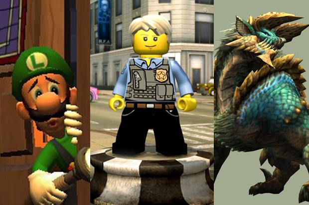 Luigi's Mansion, LEGO City e Monster Hunter estão entre os destaques (Foto: Reprodução)
