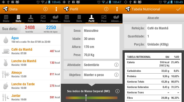 Tecnonutri é um app para Android ideal para quem quer emagrecer (Foto: Divulgação)