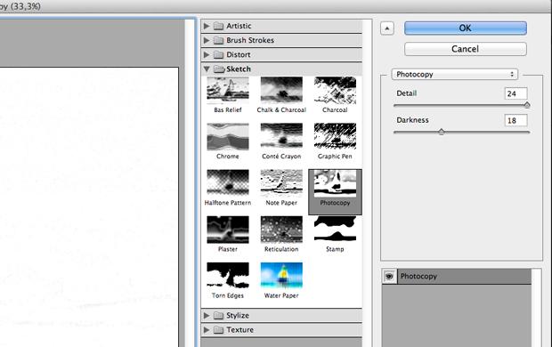 Aplique o filtro Photocopy. (Foto: Reprodução/André Sugai)