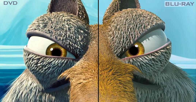 Comparativo entre qualidade de imagem do DVD e do BluRay  (Foto: Divulgação)