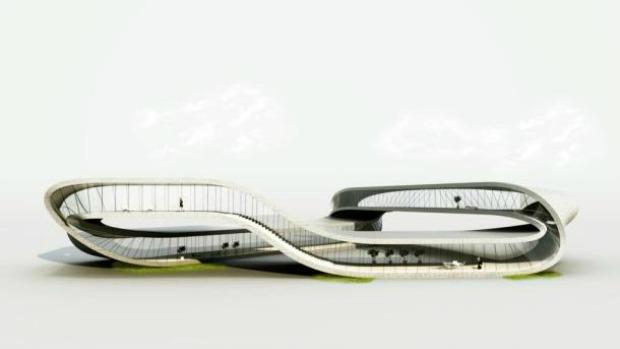 Projeto mostra ideia do prédio feito em 3D (Foto: Reprodução/CNET)