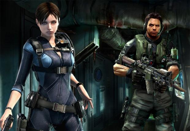 Jill e Chris são os heróis de Resident Evil Revelations (Foto: Divulgação) (Foto: Jill e Chris são os heróis de Resident Evil Revelations (Foto: Divulgação))