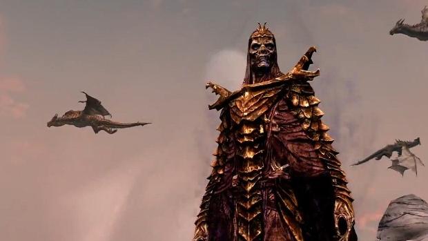 Enfrente o primeiro Dragonborn e o Lorde Vampiro Harkon nos DLCs de Skyrim (Foto: egmnow.com)