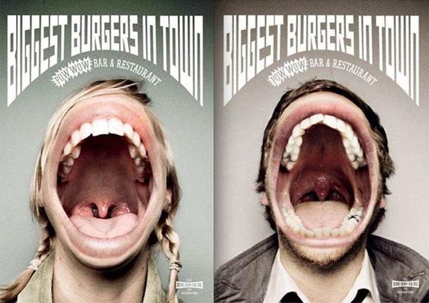 O maior hambúrger da cidade precisa de bocas maiores (Foto: Reprodução)