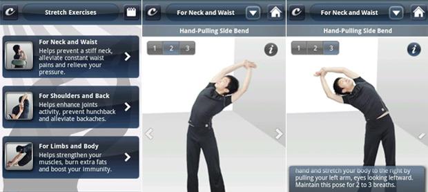 Stretch Exercises apresenta séries de alongamentos (Foto: Divulgação)