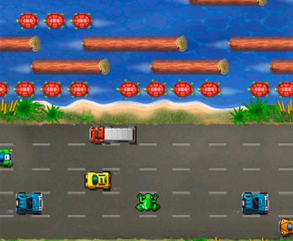 Frogger é um jogo divertido para criançada, mesmo passando tanto tempo (Foto: Divulgação)