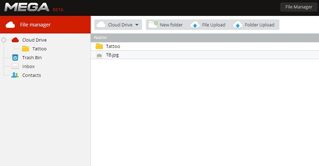 Esta é a interface do gerenciador de arquivos (Foto: Reprodução/Thiago Barros)