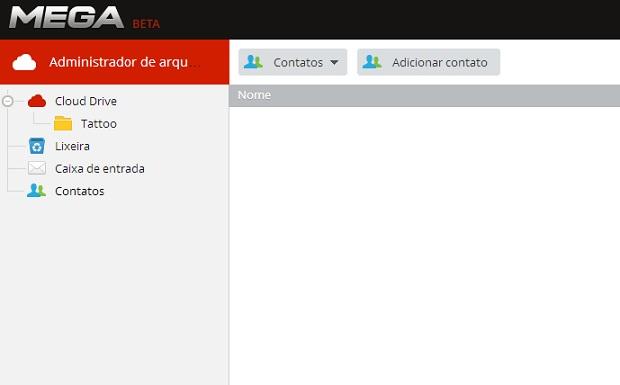 Também é possível adicionar contatos no Mega (Foto: Thiago Barros/TechTudo)