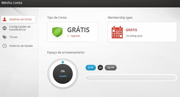 Opção Minha Conta permite diversas edições (Foto: Thiago Barros/TechTudo) (Foto: Opção Minha Conta permite diversas edições (Foto: Thiago Barros/TechTudo))