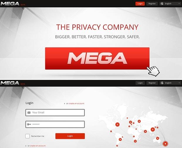 Primeiro passo é fazer o login no Mega (Foto: Reprodução/Thiago Barros)