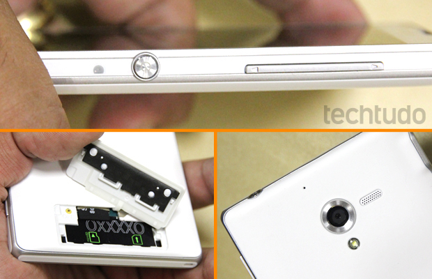 Apesar da tela de 5 polegadas, o Xperia ZQ tem um bom tamanho (Foto: Allan Melo / TechTudo)