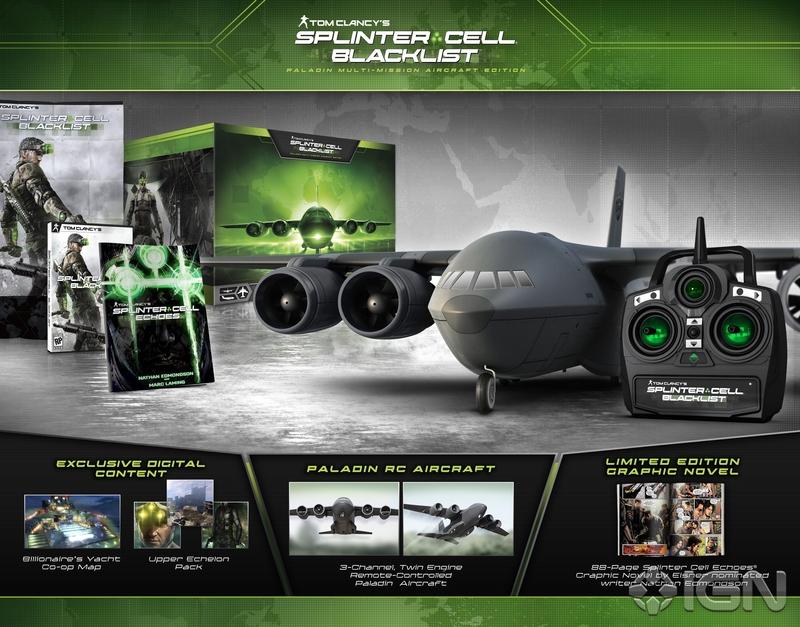 A Edição Paladin de Splinter Cell: Blacklist inclui um belo aeromodelo (Foto: Reprodução / IGN)