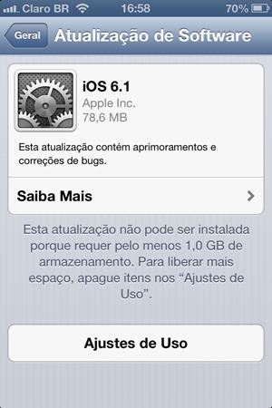 iOS 6.1 já está disponível para download (Foto: TechTudo)