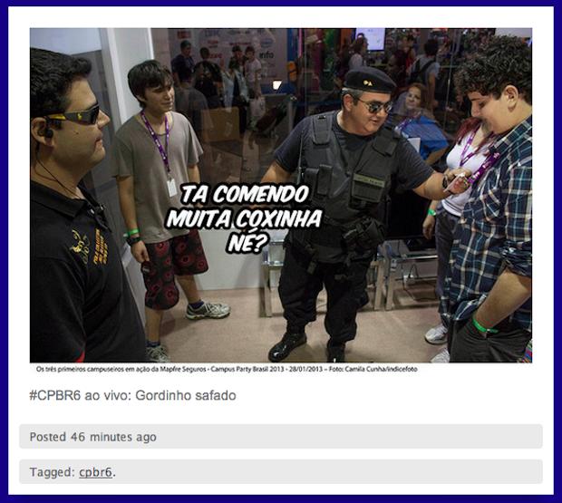 Tudo vira motivo de piada no Tumblr CPBR Ao Vivo (Foto: Reprodução)